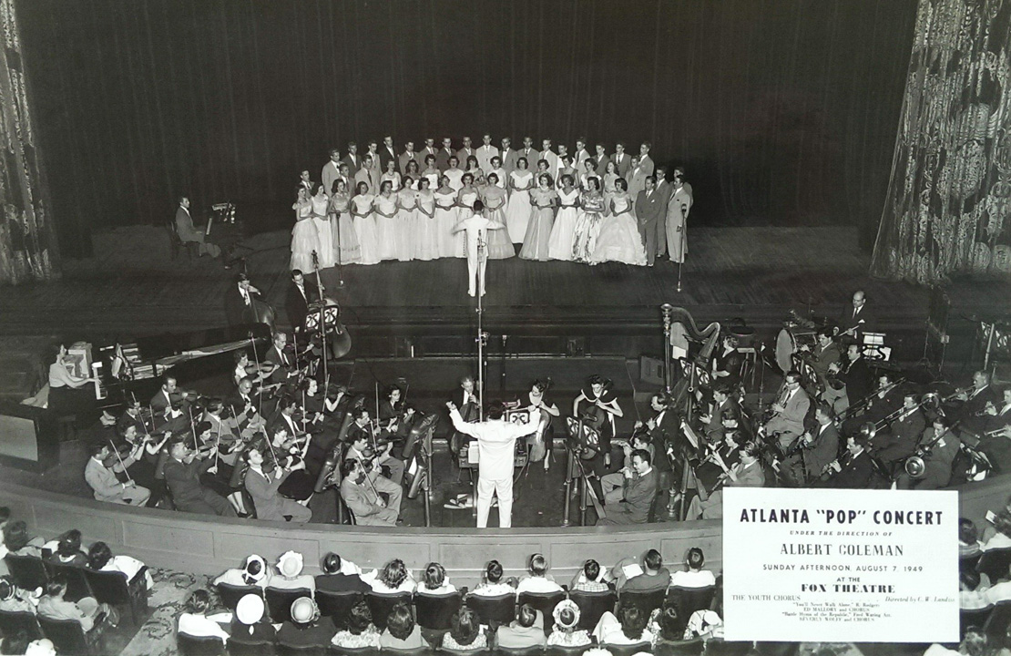 Albert Coleman conducts The Atlanta Pops Orchestra, 1949