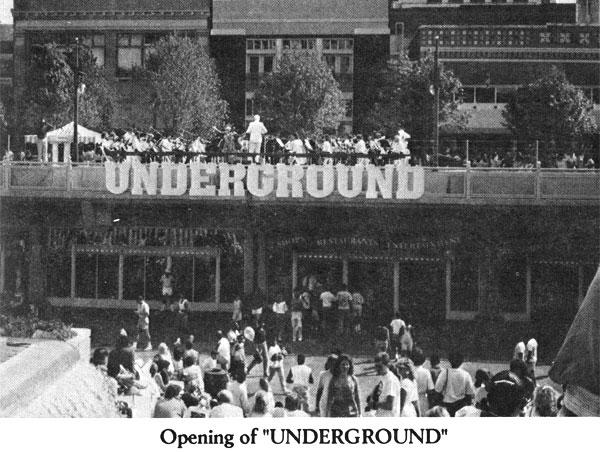 Albert Coleman conducts the Atlanta Pops Orchestra at the re-opening of Underground Atlanta - 1989