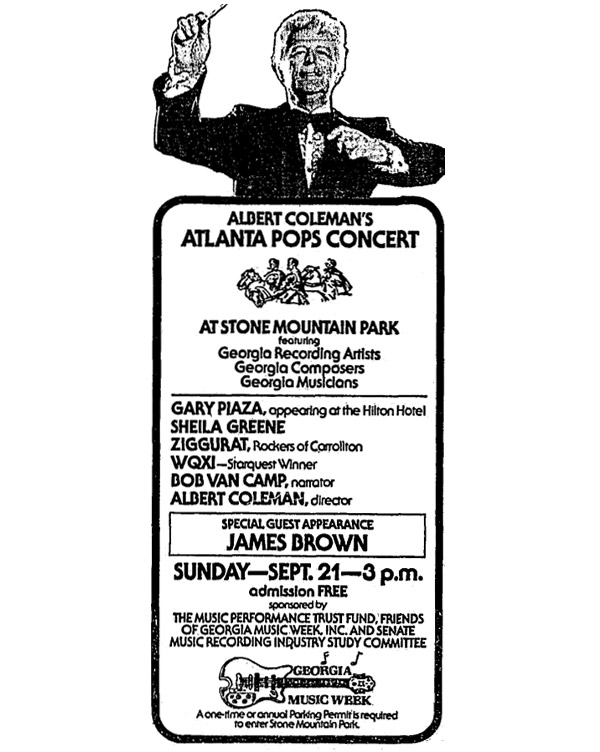 Atlanta Pops with James Brown 1980