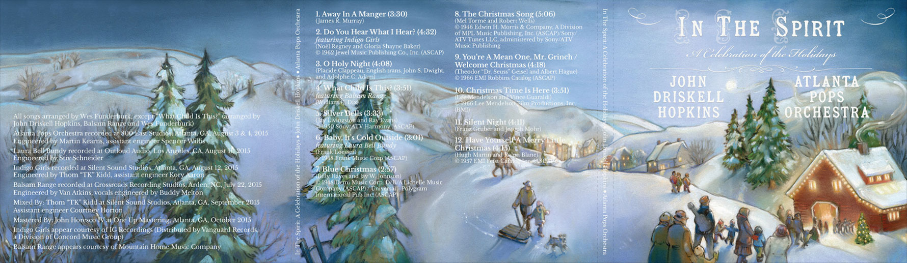 In The Spirit: A Celebration of the Holidays - Compact Disc - outer cover