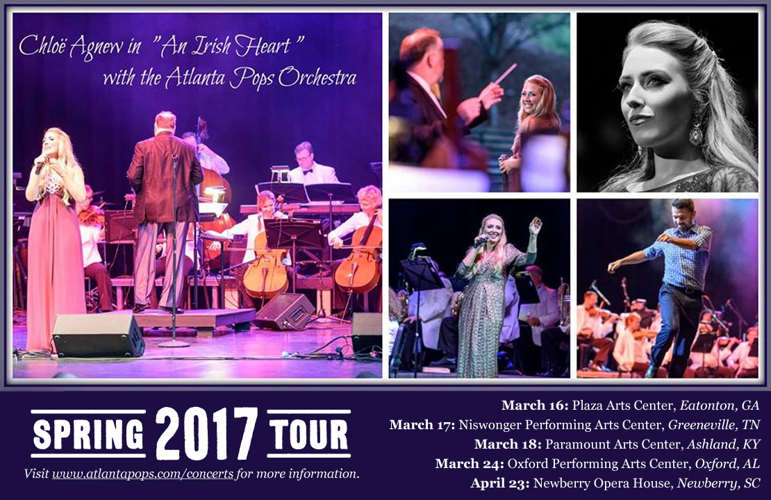 "Chloe Agnew in ""An Irish Heart"" with the Atlanta Pops Orchestra - Spring 2017 Tour"