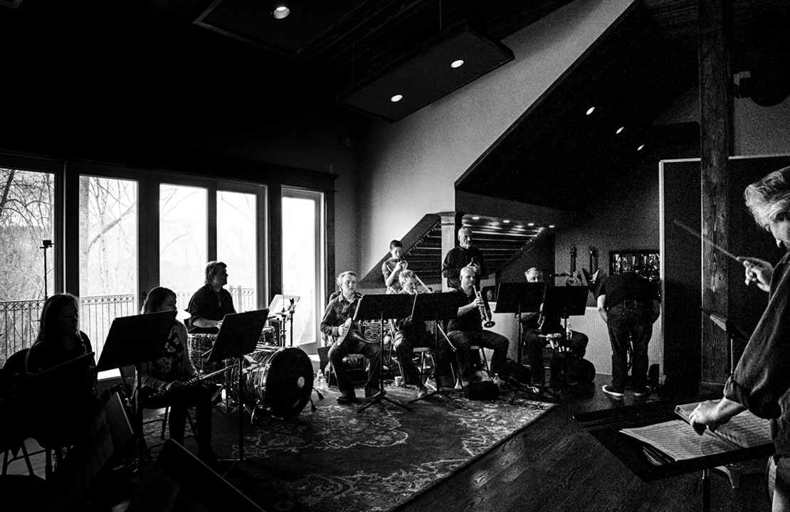 Balsam Range & Atlanta Pops Orchestra Ensemble - MerleFest 2018 rehearsal, Brighter Shade Studios (photo by Jolie Loren Photography)