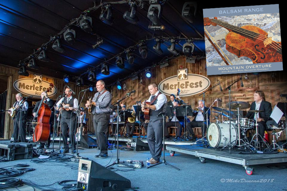 Balsam Range and the Atlanta Pops Orchestra Ensemble at MerleFest 2018, celebrating the release of Mountain Overture