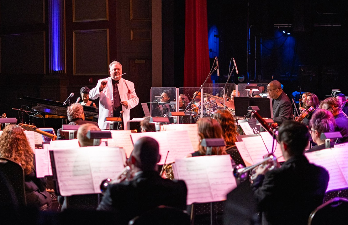 Atlanta Pops Orchestra, under the direction of Jason Altieri, joined forces with four-time Grammy nominee Oleta Adams and her band at the beautiful Oxford Performing Arts Center in Oxford, AL on February 14. The performance showcased music from Oleta's incredible 30-year career, highlighting her unique blend of pop, soul, gospel, and world music. Photo credit: CJ Foster - Oxford Performing Arts Center